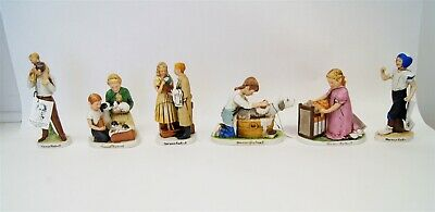 $ CDN26.12 • Buy Lot Of 6 Norman Rockwell Select Collection Figurines Original Tags 1979 B5767