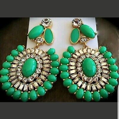 $ CDN44.64 • Buy NEW Kate Spade Capri Garden Green Gold Tone Earrings NWT POUCH