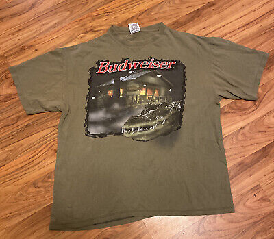 $ CDN57.42 • Buy Vintage Single Stitch Budweiser This Bud's For You T-shirt, Frogs, Alligator,XL