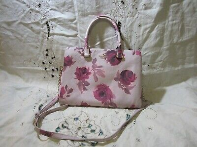 $ CDN52.35 • Buy Kate Spade Purple Rose Print Hand Bag Excellent Pre-Owned Condition