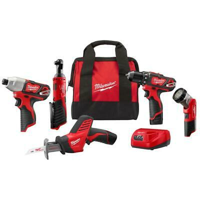 Milwaukee Combo Tool Kit 12-Volt Lithium Ion Cordless Brushed Variable Speed • 170.25£