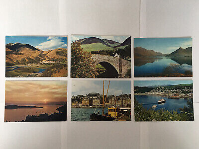 6 Argyll Postcards - All Printed By Dixon • 3.79£