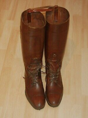 WW1 Period British Army Officer's Leather Boots Manfield & Sons • 199.99£