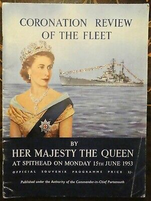 Coronation Year Review Of The Fleet By Her Majesty The Queen 1953 At Spithead • 4.99£