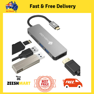 AU36.85 • Buy USB C Hub Adapter With 4K HDMI Port SD Micro Card Slots For MacBook Pro Huawei