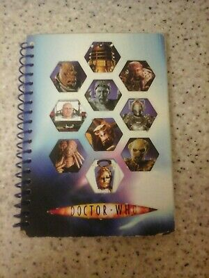 DALEK  & Others. DOCTOR WHO ADVENTURES  NOTEBOOK & PEN, SPIRAL BINDING.  NEW  • 0.50£