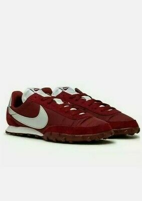 Nike Waffle Racer UK Size 7 Mens Trainer Leather Suede Red Burgundy Silver • 49.99£
