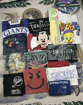 $ CDN41.71 • Buy 15 PREMIUM Vintage T Shirt Lot Single Stitch Wholesale Bulk Disney NFL Nike L XL