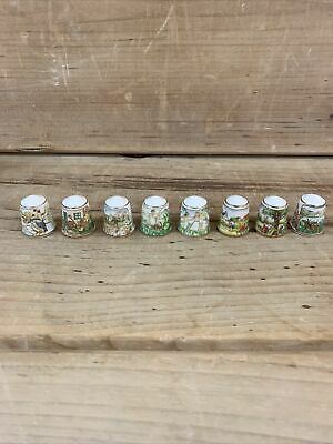 Sutherland England Thimble Set Of Eight Rare Set With Rare Text Made In England • 12.99£