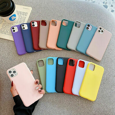 AU4.59 • Buy Case For Apple IPhone 13 12 Pro Max 11 XS Max XR XS 8 7 Plus Silicone Slim Cover