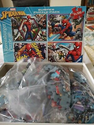 Spiderman Jigsaw Puzzle Sealed Bags Not Used • 2.90£