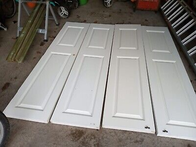 £99 • Buy 4x Interior / Wardrobe Doors - Solid Wood - White - Used - Collection Only