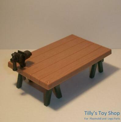 £4 • Buy Playmobil    Work Bench/TrestleTable With Vice For Citylife/Tool Sets   -   NEW