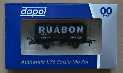 Dapol 4F-071-132 RUABON COAL & COKE 7-Plank Wagon #825 New Boxed • 9.35£