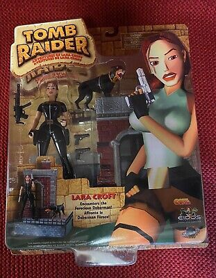 Playmates Toys Lara Croft Tomb Raider Action Figure London Doberman Dog 72026 • 15£
