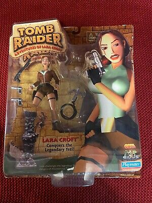 Lara Croft Tomb Raider Action Figure Tibet Yeti Playmates Box 72023 • 15£