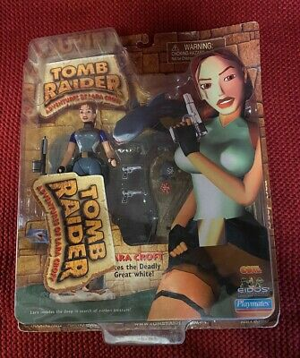 Lara Croft Action Figure Faces The Deadly Great White - Tomb Raider 72022 • 26.50£