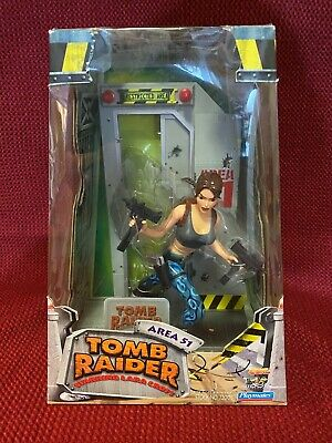 Tomb Raider Lara Croft Toy Figure Area 51 Vintage1999 Playstation 72003 • 22£