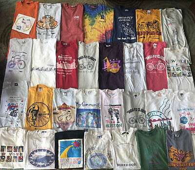 $ CDN4.24 • Buy Vintage T Shirt Lot Of 30 90s To Early 00s Large XL XXL USA Thrashed Reseller