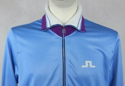 J. LINDEBERG Great JACKET Jumper Tracksuit TOP Logo Sz LARGE Gc • 0.99£