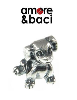 £16.99 • Buy Genuine AMORE & BACI 925 Sterling Silver DOG Charm Bead, Dog Lover, Puppy
