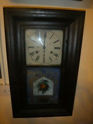Antique American Chiming Brewster & Co Wall Clock • 49.99£