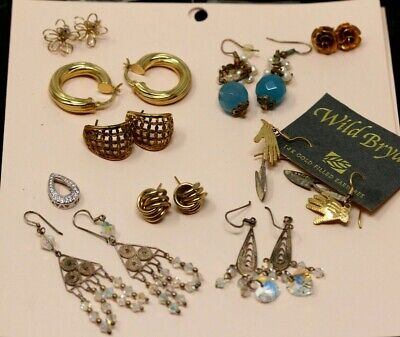 $ CDN16.36 • Buy Vintage To Modern Jewelry Lot, Sterling Silver, 14k, Crystals, Gems & More