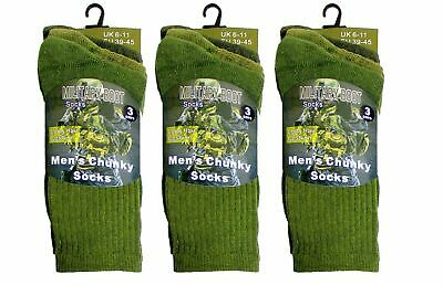 Mens Military Socks 3 Pairs Army Thermal Hiking Boots Walking Combat Warm 6-11 • 4.98£