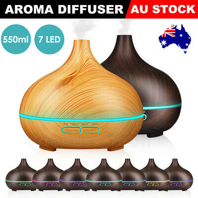 AU21.99 • Buy Air Humidifier Purifier Essential Oil Diffuser 550ml Aroma Aromatherapy Lamp LED