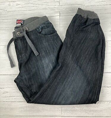 Lee Cooper W30 L29 Cuffed Ankle Denim Jeans Cargo Pants Jogging Bottoms Lounge • 8£