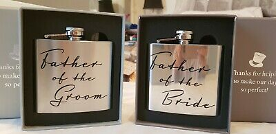 Pair Of Wedding Hipflasks Father Of The Bride And Groom Gift Present Christmas  • 12.99£