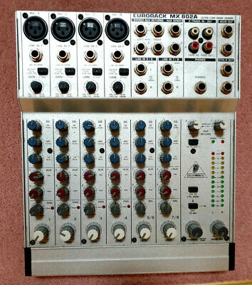 Behringer Eurorack MX802A 8-Input Mixer, With Manuals & Power Supply • 35.99£