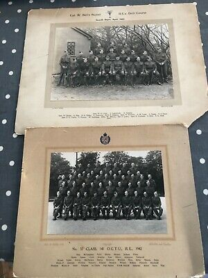 Army Ww2 Group Photo Photograph Royal Engineers Guard's  • 2.20£