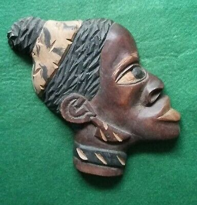 Wooden African Style Mask/ Wall Plaque (3rd One Listed) • 2.99£