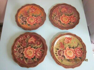 Raymond Waites Toyo 10  Flower Collectors Plates Set Of 4 • 37.46£