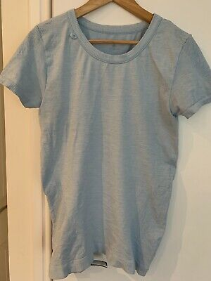 M-life Pale Blue Fitted Yoga Fitted T-shirt Size M/L (uk 12/14). Never Worn • 5£