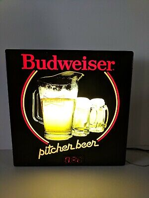 $ CDN45.73 • Buy Budweiser Pitcher Beer Bar Lighted Price Sign
