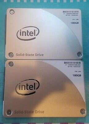 $ CDN48.42 • Buy Intel 180GB Internal 2.5  SSDSC2BF180A4H HP P/N 735236-001 SSD LOT OF 2