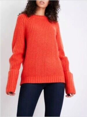 Frame Slouchy Oversized Chunky Cable Knit Wool Mix Jumper £535 S M 8 10 12 • 55£