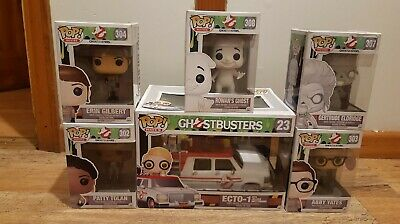 6 Ghostbusters Funko Pop Figure Bundle - ECTO-1, Ghosts And Busters • 54.99£