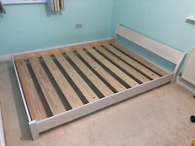 Japanese Solid Wood King Size Bed Frame • 100£