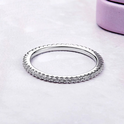 Stackable Eternity 925 Sterling Silver Ring • 14.45£