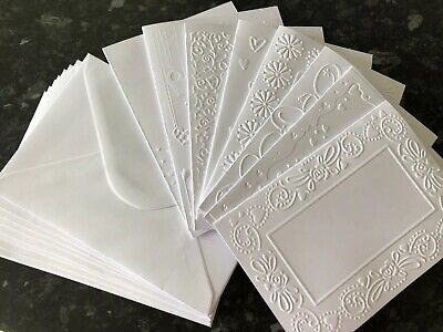 Embossed Blank Cards And Envelopes Craft Card Making Bundle ClearOut Job Lot • 2£