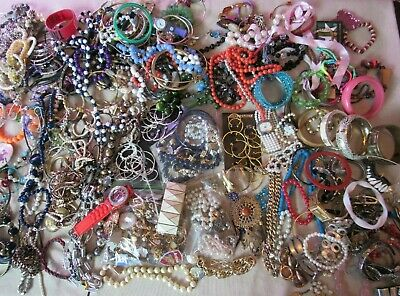 $ CDN13.05 • Buy Vintage To Now Estate 12 Lb Jewelry Lot Junk Drawer Unsearched Untested Wear