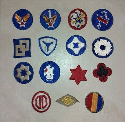 WW2 US Army Pacific Theatre Divisional Patches Job Lot 2 Of 3 • 20£