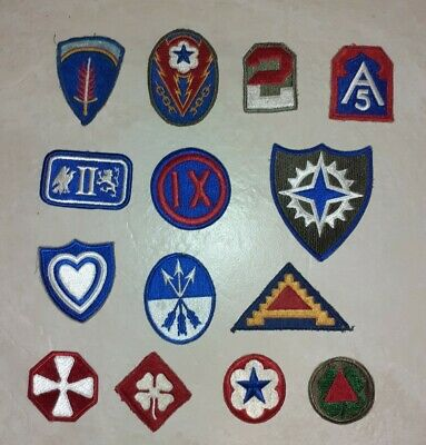 WW2 US Army Corp Patches Job Lot 3 Of 3 • 20£