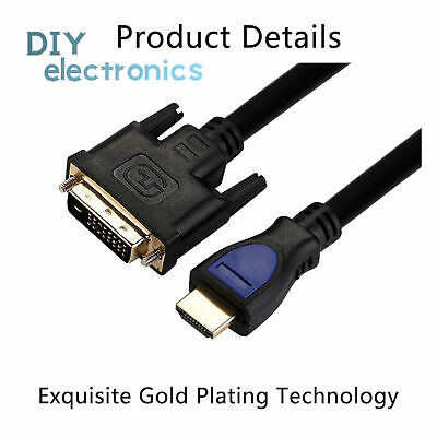 £1.57 • Buy 1080P 3D HDMI To DVI HDMI Cable DVI-D 24+1Pin Adapter Cables For LCD DVD HDTV US