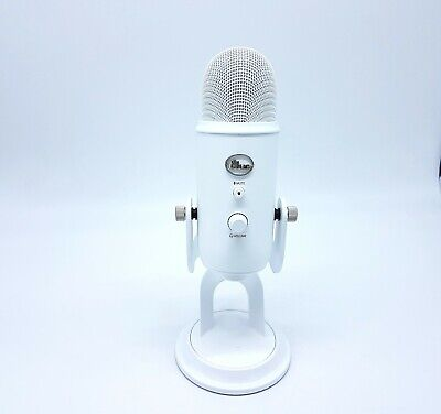 Studio Blue Yeti USB Microphone Whiteout Broadcast Twitch Youtube Home Work • 85£