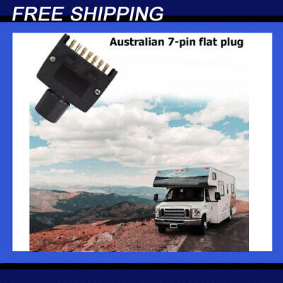 AU9.25 • Buy NEW 7 Pin Flat Trailer Plug Caravan Boat MALE Connector Single Part Adapter Plug