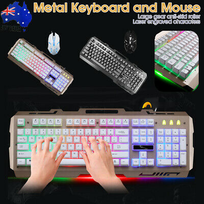 AU27.29 • Buy Pro Wired Gaming Keyboard Mouse And Pad Set RGB LED Backlit For PC Laptop 360